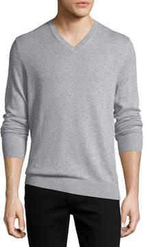 Burberry Randolf Cashmere-Cotton Sweater, Gray