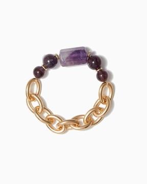 Charming charlie Gem Stone Link Bracelet