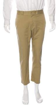 Beams Woven Cropped Chinos