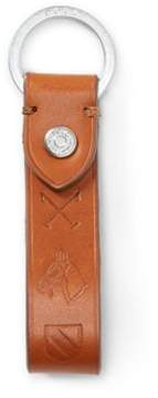 Ralph Lauren Embossed Leather Key Fob Key Fob Polo Mallet One Size