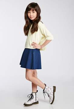 Forever 21 Girls Stretch-Knit Skater Skirt (Kids)