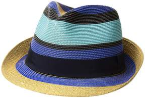Etro Striped Straw Hat Caps