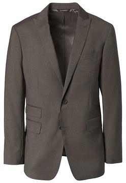 Banana Republic Standard Brown Solid Italian Wool Suit Jacket