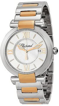 Chopard Imperiale Silver Dial 18k Rose Gold and Steel Ladies Watch 388532-6002