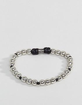 ICON BRAND Beaded Bracelet In Silver