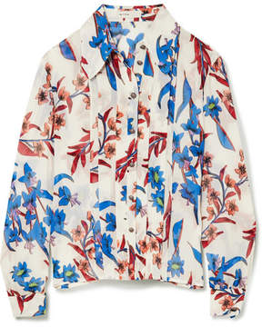 Etro Printed Crinkled-silk Blouse - White