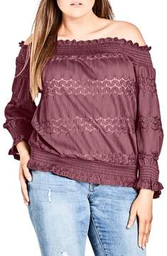 City Chic Dainty Off the Shoulder Top