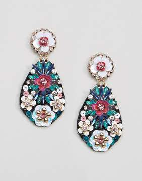 Aldo Gwalella Floral Statement Embellished Earrings