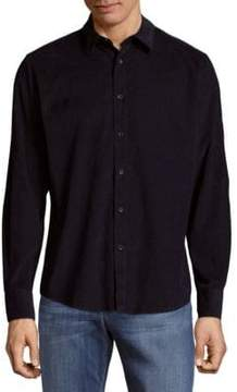 Saks Fifth Avenue BLACK Pinwale Cord Cotton Button-Down Shirt