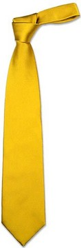 Forzieri Solid Golden Yellow Extra-Long Tie