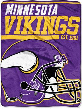 Northwest Company Minnesota Vikings Micro Raschel 46x60 40 Yard Dash Blanket