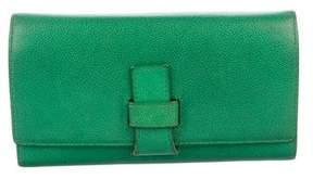 Smythson Leather Flap Wallet