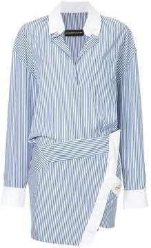 Alexandre Vauthier striped overlap tunic dress