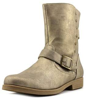 Rachel Morgan Youth Round Toe Synthetic Gold Boot.