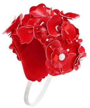 Miu Miu Embellished floral hat