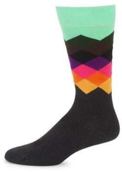 Happy Socks Geometric-Print Crew Socks