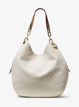 Michael Kors Fulton Large Logo Shoulder Bag - NATURAL - STYLE