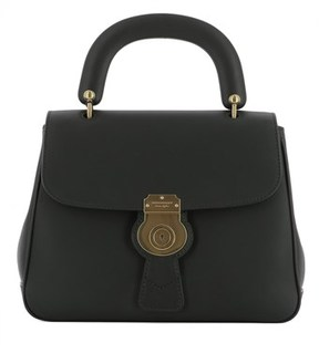 Burberry Women's Black Leather Handbag. - BLACK - STYLE