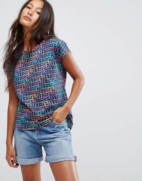 Esprit All Over Slogan T-Shirt