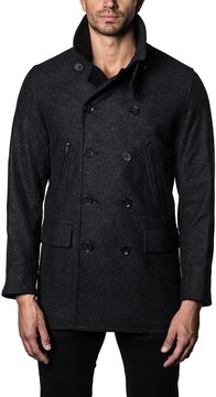 Jared Lang Double-Breasted Wool-Blend Jacket
