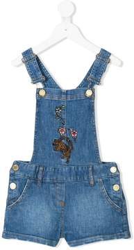 Zadig & Voltaire Kids embroidered dungarees