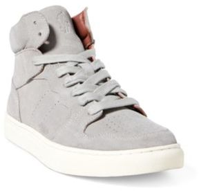 Ralph Lauren Jory Suede High-Top Sneaker New Glacier 10