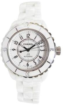 Chanel J12 H0970 Ceramic White Dial Auto 38mm Mens Watch