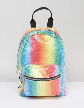 Asos Mini Festival Sequin Rainbow Backpack