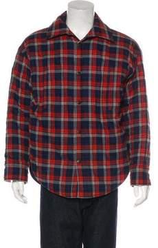 Balenciaga 2018 Plaid Flannel Shirt Jacket