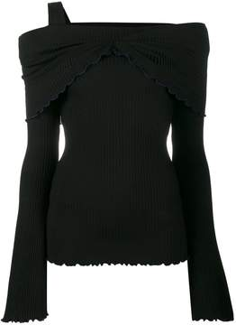 Ellery off-the-shoulder knitted top
