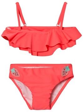 Seafolly Touci Frutti Ruffle Mini Tube Bikini With Strawberry Crochet Trim