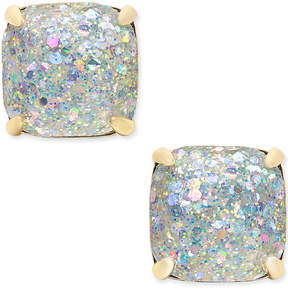 kate spade new york 14k Gold-Plated Glittery Purple Square Stud Earrings