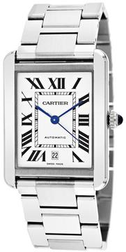 Cartier Tank Collection W5200028 Men's Stainless Steel Watch