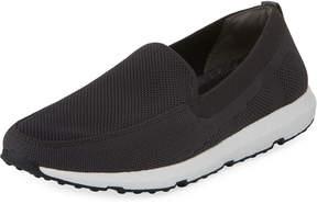 Swims Breeze Leap Knit Boat Shoe, Gray