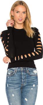 Autumn Cashmere Slash Sleeve Cropped Sweater