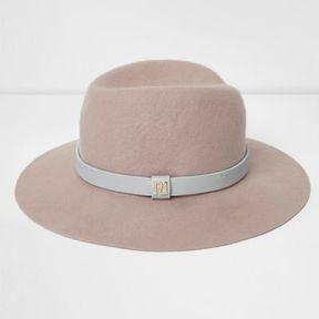 River Island Womens Light pink wide brim fedora hat