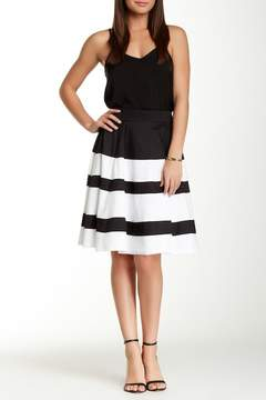 Atelier Luxe Colorblock Circle Skirt