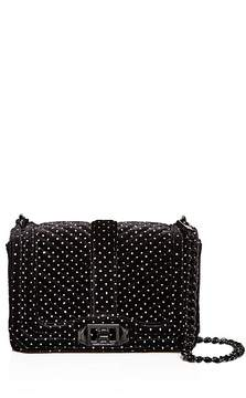 Rebecca Minkoff Love Small Velvet Crossbody - 100% Exclusive - BLACK/SILVER - STYLE