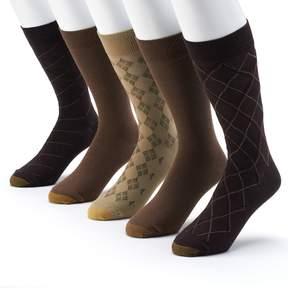Gold Toe GOLDTOE 5-pack Patterned & Solid Dress Socks - Men