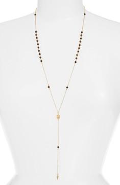 Ettika Women's Pyramid Pendant Rosary Necklace