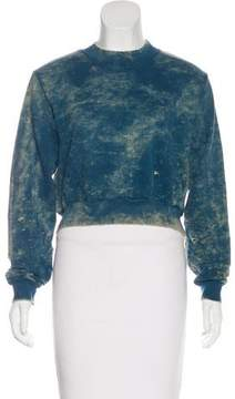 Cotton Citizen Distressed Cropped Sweatshirt w/ Tags