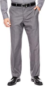 Jf J.Ferrar Men's JF Gray Sharkskin Flat Front Classic-Fit Suit Pants