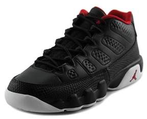 Jordan Air 9 Retro Youth Round Toe Synthetic Black Sneakers.