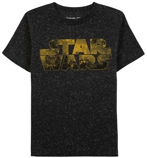 Star Wars Baby Boys' Short Sleeve T-Shirt - Black Speckle