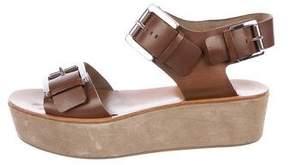 Michael Kors Michael Leather Platform Sandals