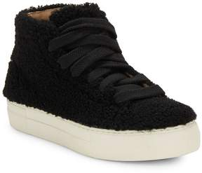 Helmut Lang Women's Hi-Top Shearling Sneakers
