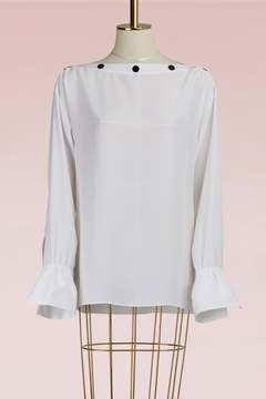 Emilio Pucci Crepe blouse with open shoulder