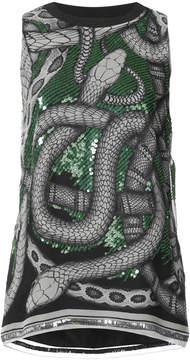 Barbara Bui sequinned snake blouse