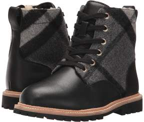 Burberry Check Lace-Up Weatherboots with Shearlin Kid's Shoes