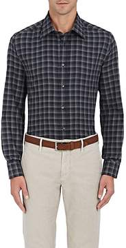 Luciano Barbera Men's Checked Cotton Button-Front Shirt